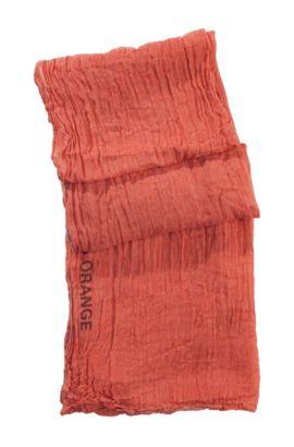 Sjaal ´Nuot2` van een viscosemix, Donkerrood