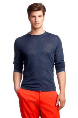 Regular-Fit Pullover ´Franz` mit Leinen, Blau