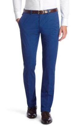 Gabardine-Hose ´Shadow7-W` aus reiner Baumwolle, Blau