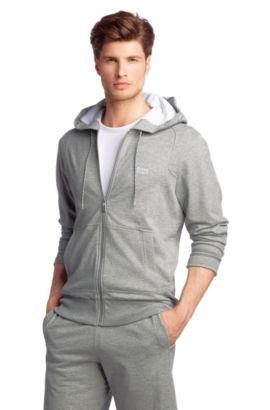 Sweatshirt-Jacke ´Saggy` aus reiner Baumwolle, Hellgrau