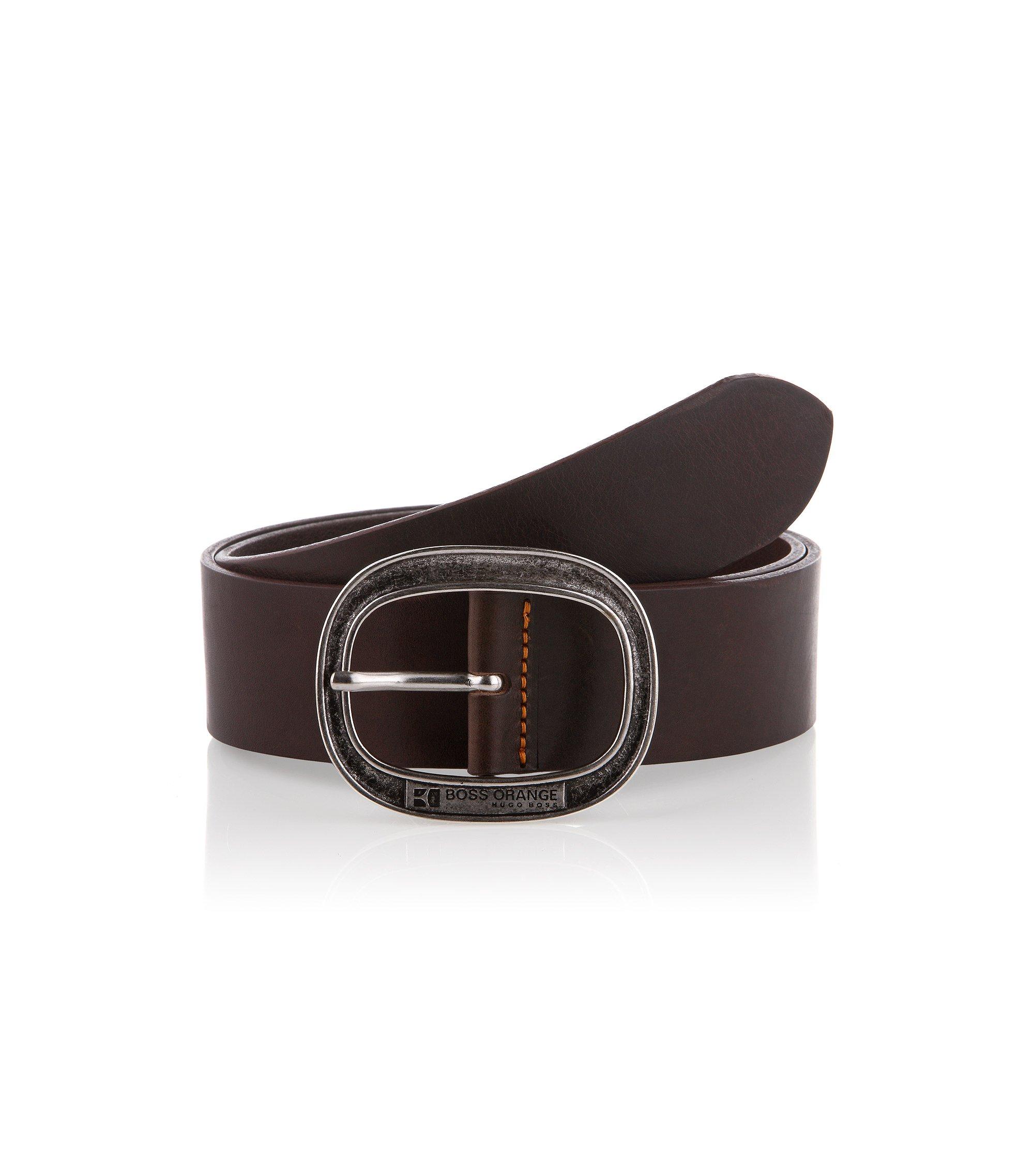Gürtel ´Jeffrio` mit ovaler Dornschließe, Dunkelbraun