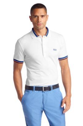Poloshirt ´Paule` mit geradem Saum, Weiß