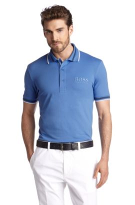 Polo en coton mélangé, Paddy Pro 1, Bleu vif