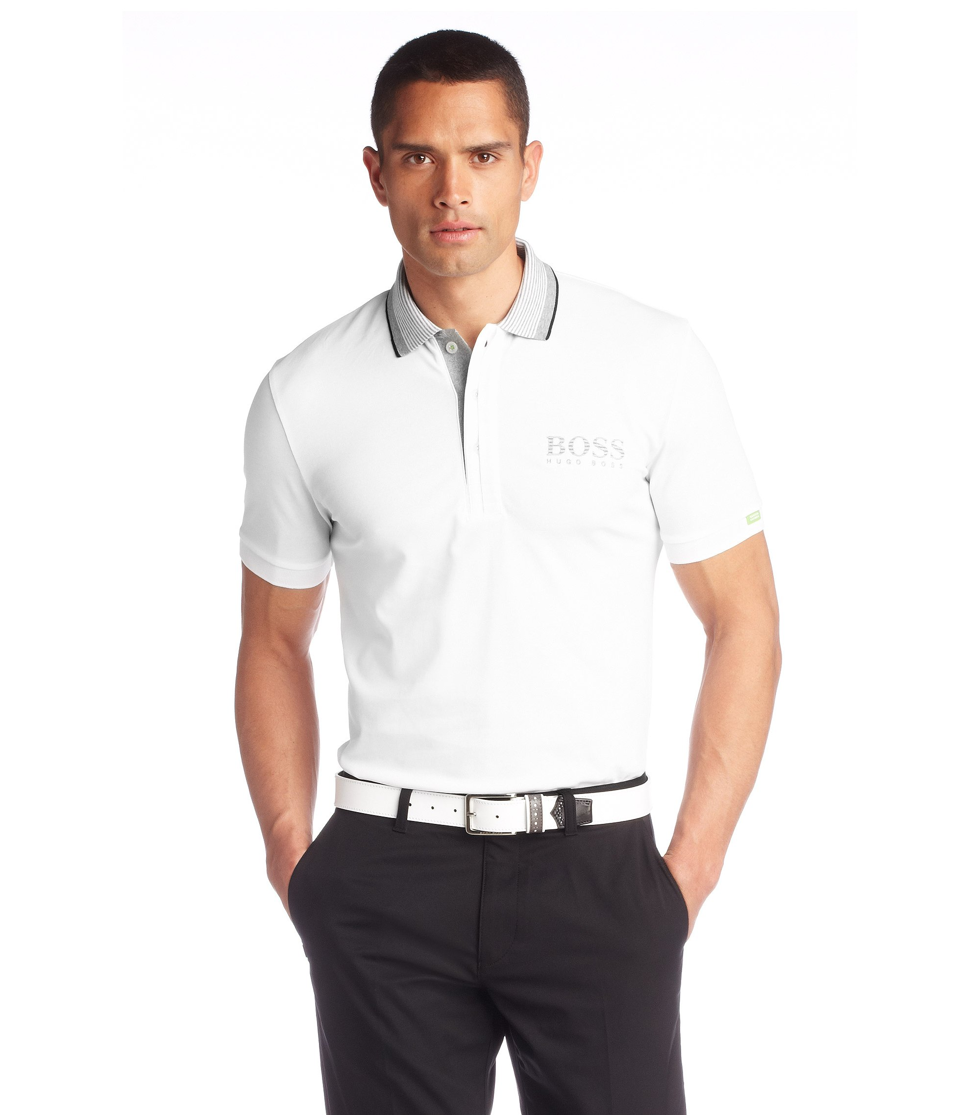 Poloshirt ´Paddy MK` aus Baumwoll-Mix, Weiß