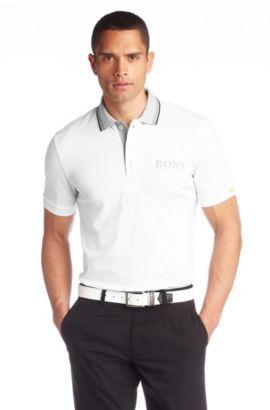 Poloshirt ´Paddy MK` van katoenmix, Wit
