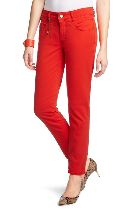 Slim fit jeans 'JE756-8', Open Red