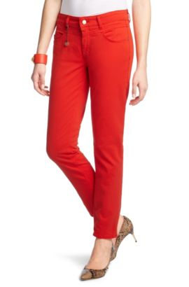 Jean de coupe Slim Fit, JE756-8, Rouge clair