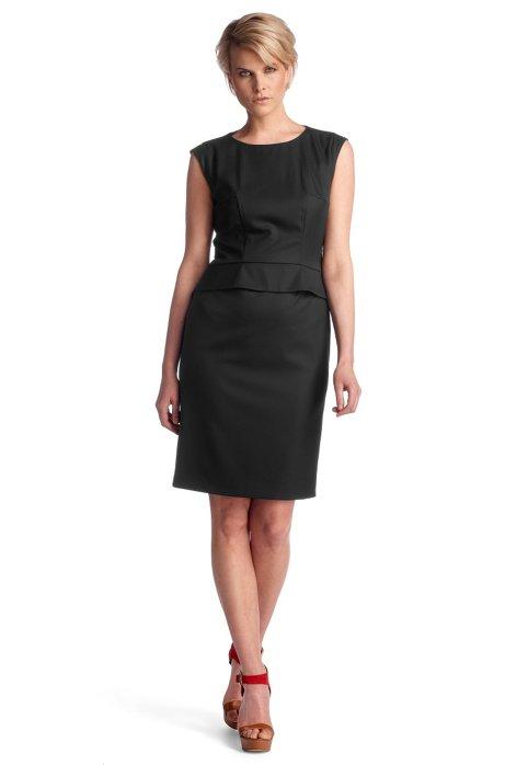 Sheath dress in blended new wool 'Dapeplina', Black