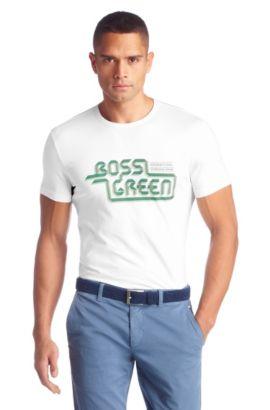 T-Shirt ´Tee 5` mit Rundhals-Ausschnitt, Weiß