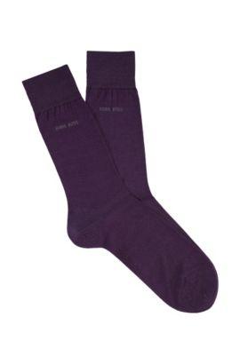 Chaussettes «George Colours» en coton, Violet foncé