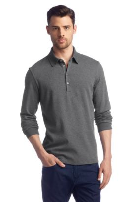 Regular fit polo ´Paderna 20`, Grijs