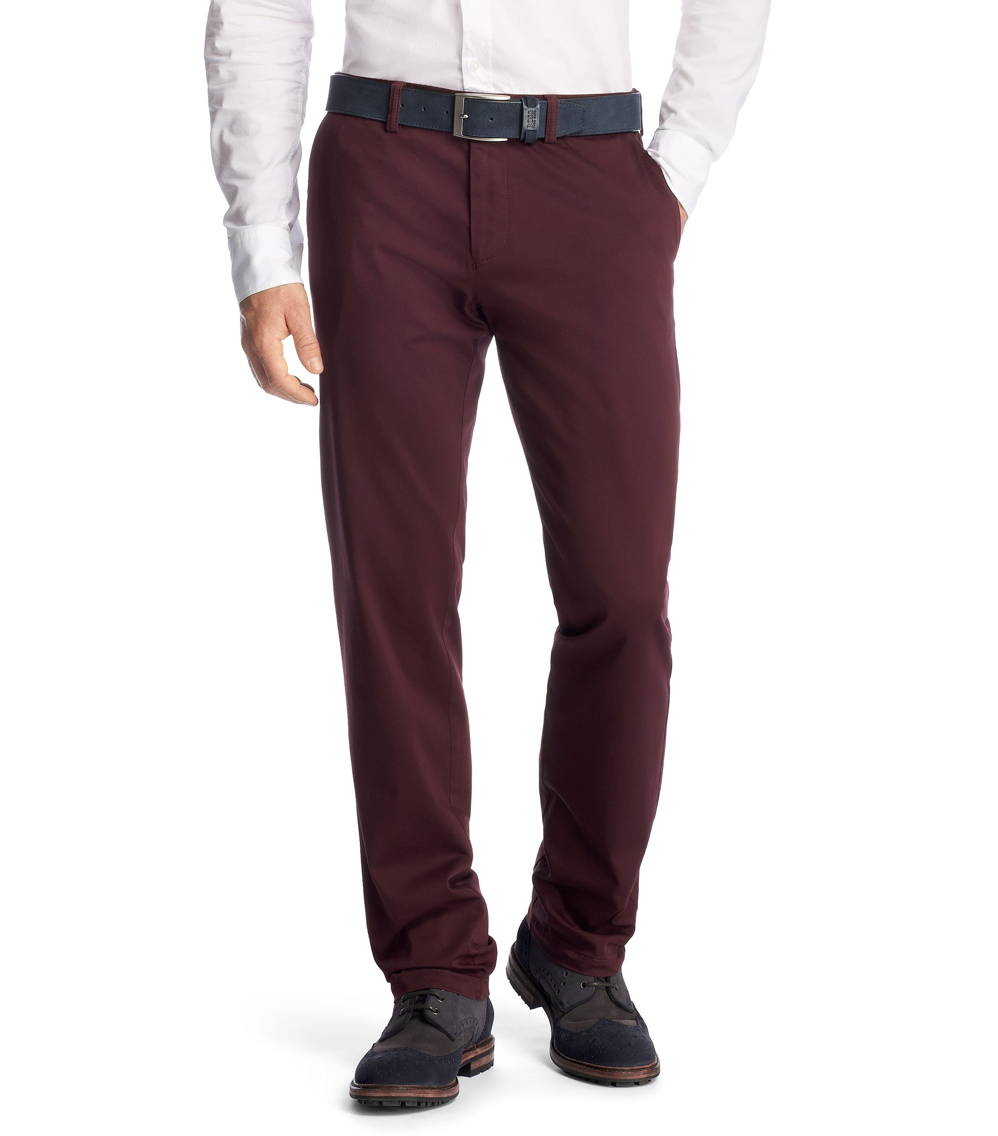 Regular-Fit Chino ´Crigan1-W Modern Essential`, Dunkelrot