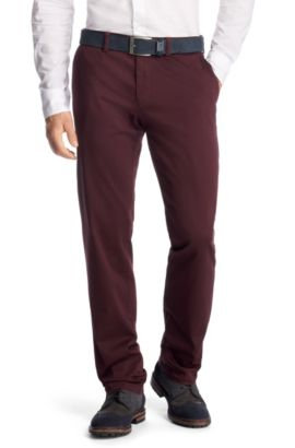 Chino Crigan1-W Modern Essential, Rouge sombre