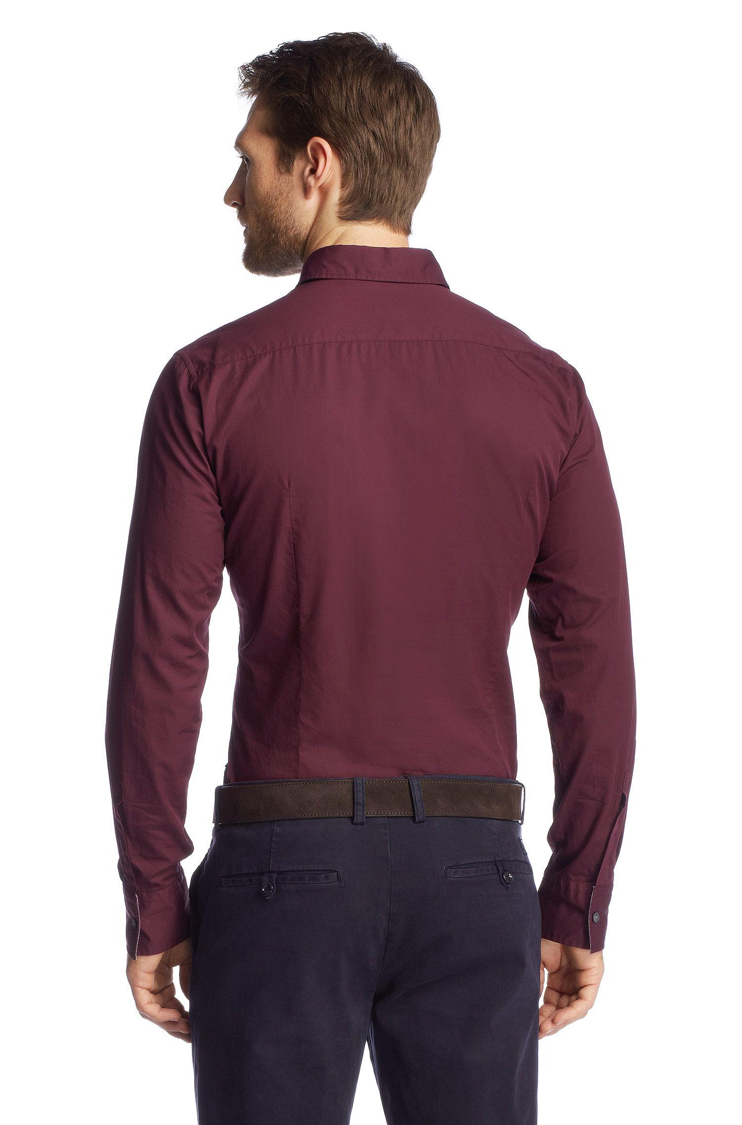 Slim-Fit Freizeit-Hemd ´Ronny_21 Modern Essentia, Dunkelrot