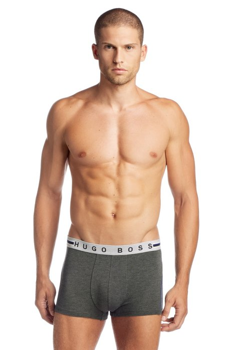 Cotton blend boxer shorts 'Boxer BM', Anthracite