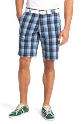 Short pur coton, Hitch-W, Bleu foncé