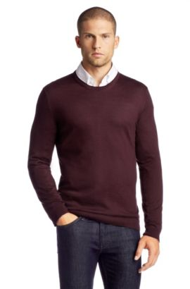 Pull-over en laine vierge, Baker-B, Rouge sombre