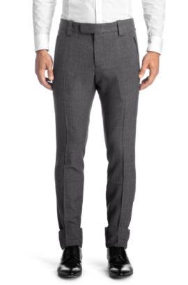 Slim-fit broek 'Hyntho' van een viscosemix, Lichtgrijs