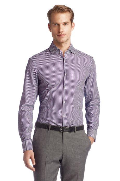 Egyptian cotton business shirt 'Jaron', Purple