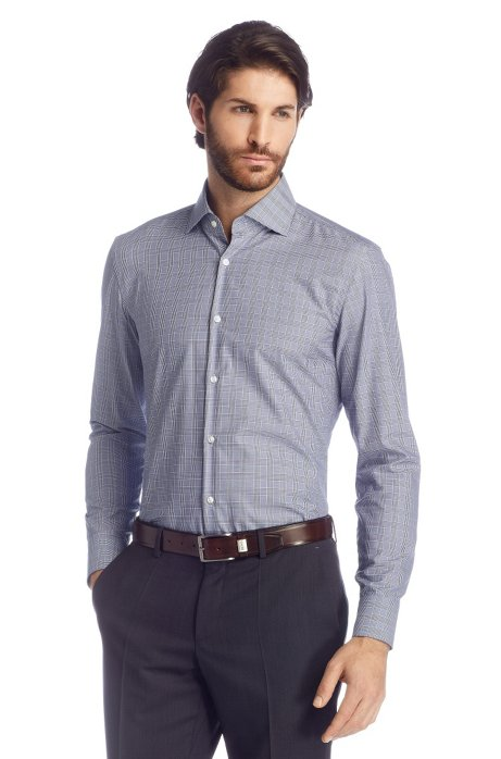 eedc5005b Slim fit business shirt in Egyptian cotton 'Jaron', Dark Blue