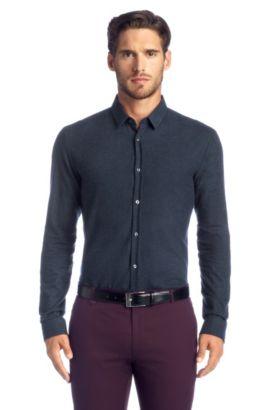 Slim-Fit Freizeit-Hemd ´Ero` mit kurzer Rückenlä, Dunkelblau