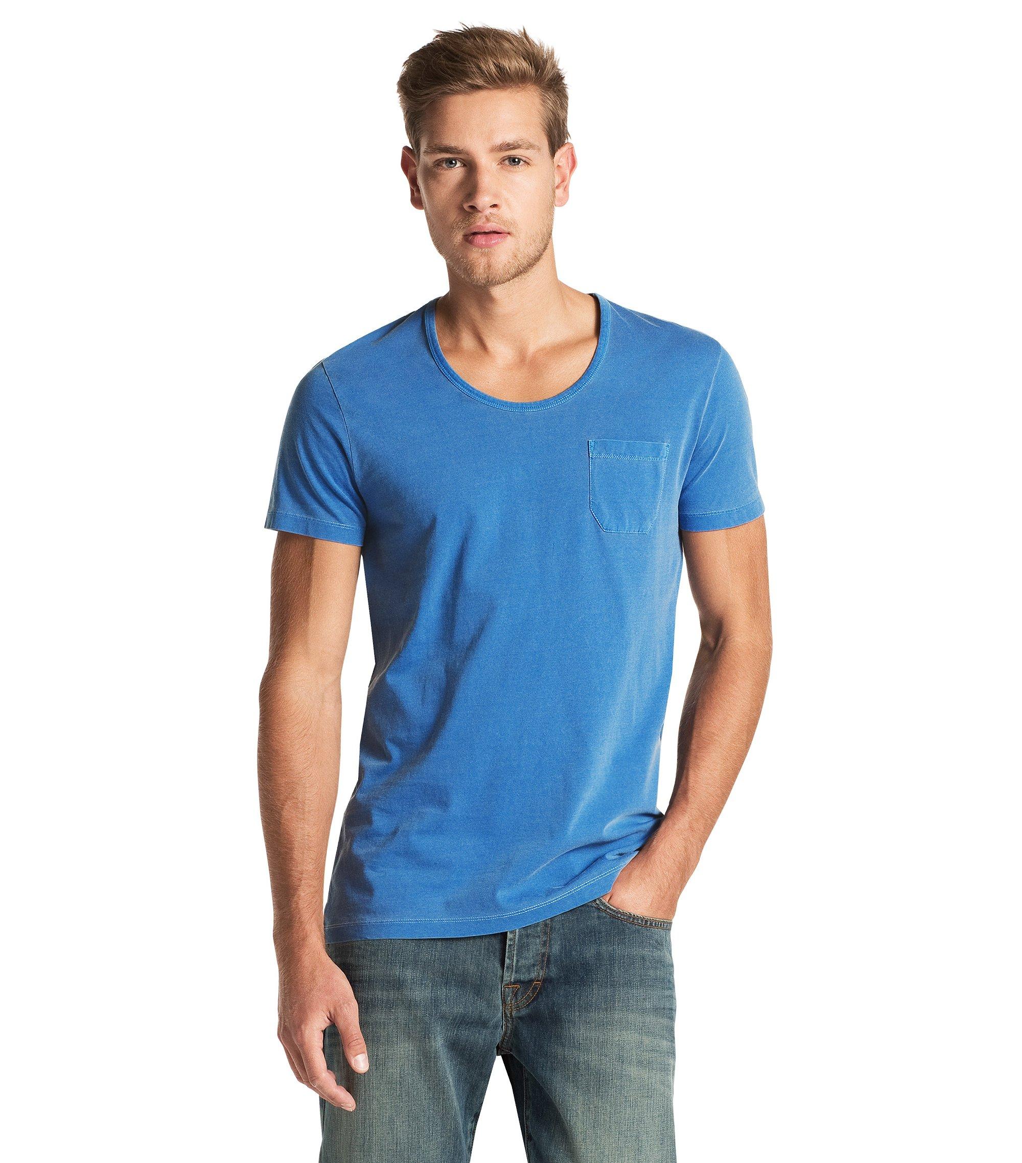 T-Shirt ´Taxes` mit Rundhals-Ausschnitt, Blau
