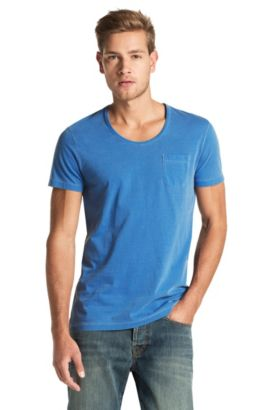 T-shirt à encolure ronde, Taxes, Bleu