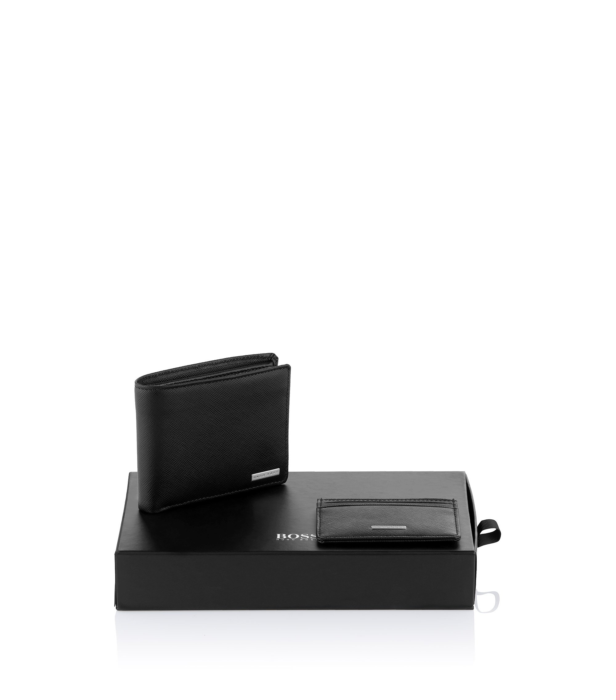 Set aus Portemonnaie und Kartenhalter  ´Giret`, Schwarz