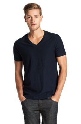 T-Shirt ´Terrific` mit V-Ausschnitt, Dunkelblau