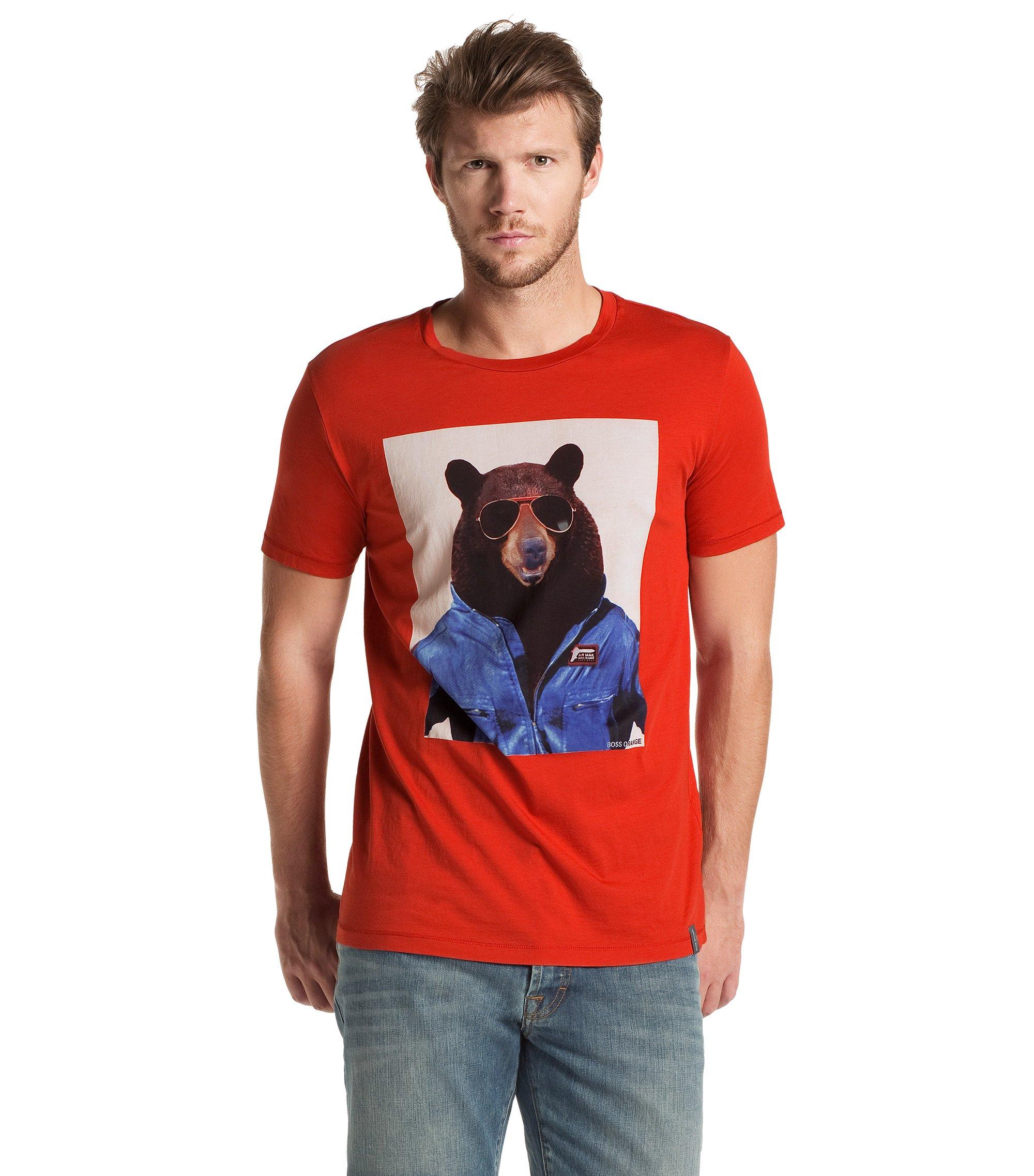 T-Shirt ´Tornado 1` aus Pima-Cotton, Dunkelrot