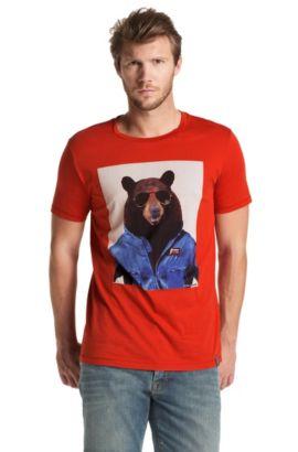 T-shirt ´Tornado 1` van pima-cotton, Donkerrood