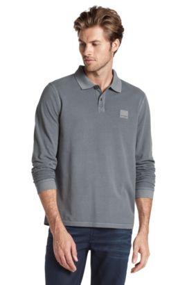 Long sleeve polo shirt 'Phlash', Dark Grey