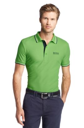Polo de golf coupe Regular Fit « Paddy Pro » en maille piquée fonctionnelle, Vert