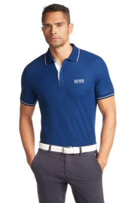 Regular fit cotton piqué golf polo shirt 'Paddy Pro', Blue