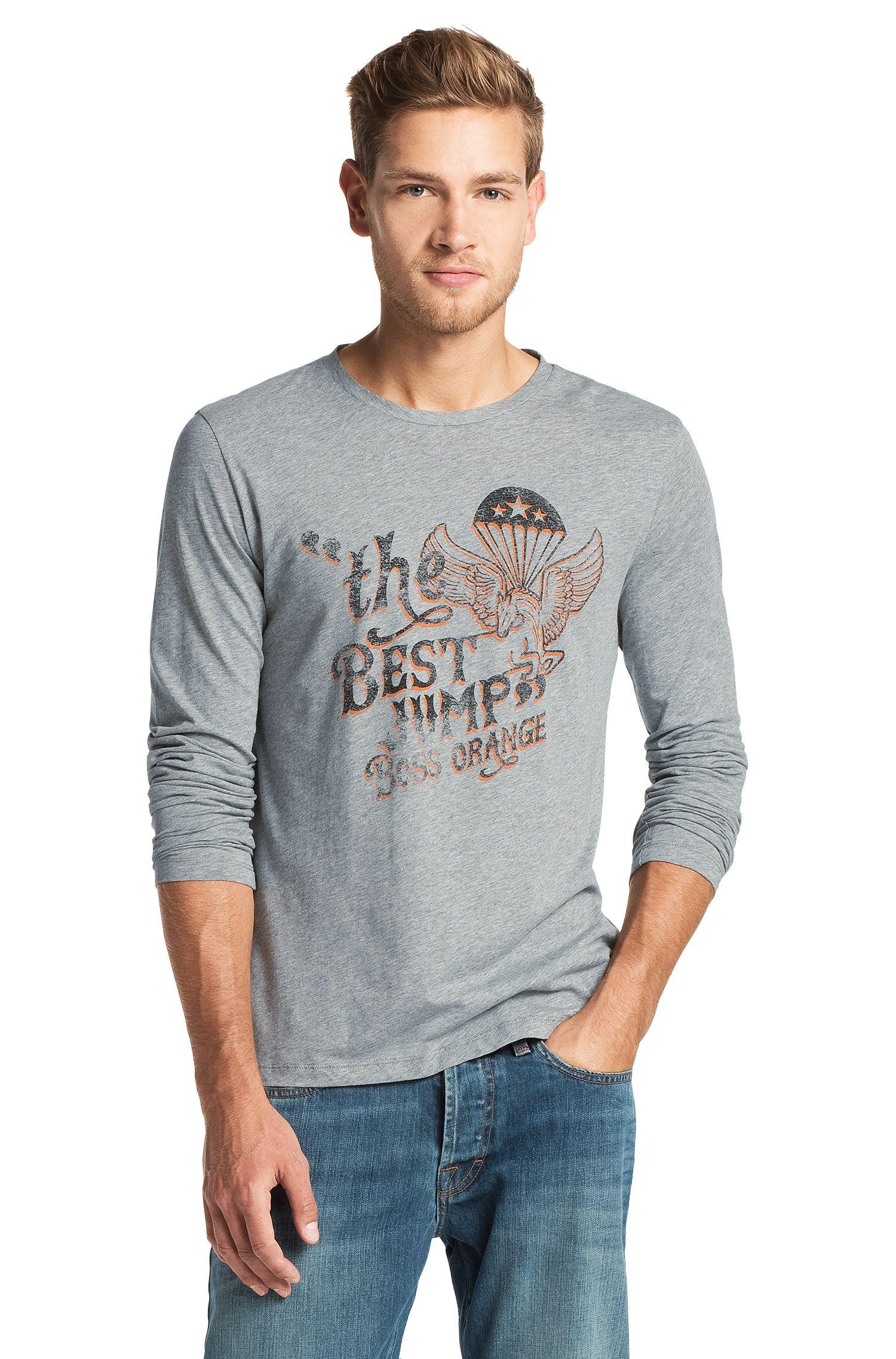 T-shirt manches longues à encolure ronde, Tuning