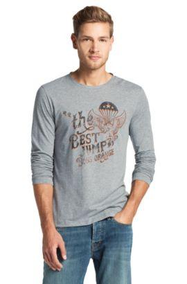 T-shirt manches longues à encolure ronde, Tuning, Gris