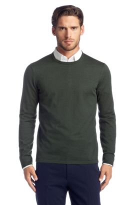 Pullover aus Schurwolle: 'Sidalio', Dunkelgrün