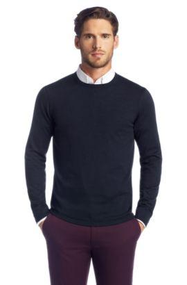 Sweater in new wool: 'Sidalio', Dark Blue