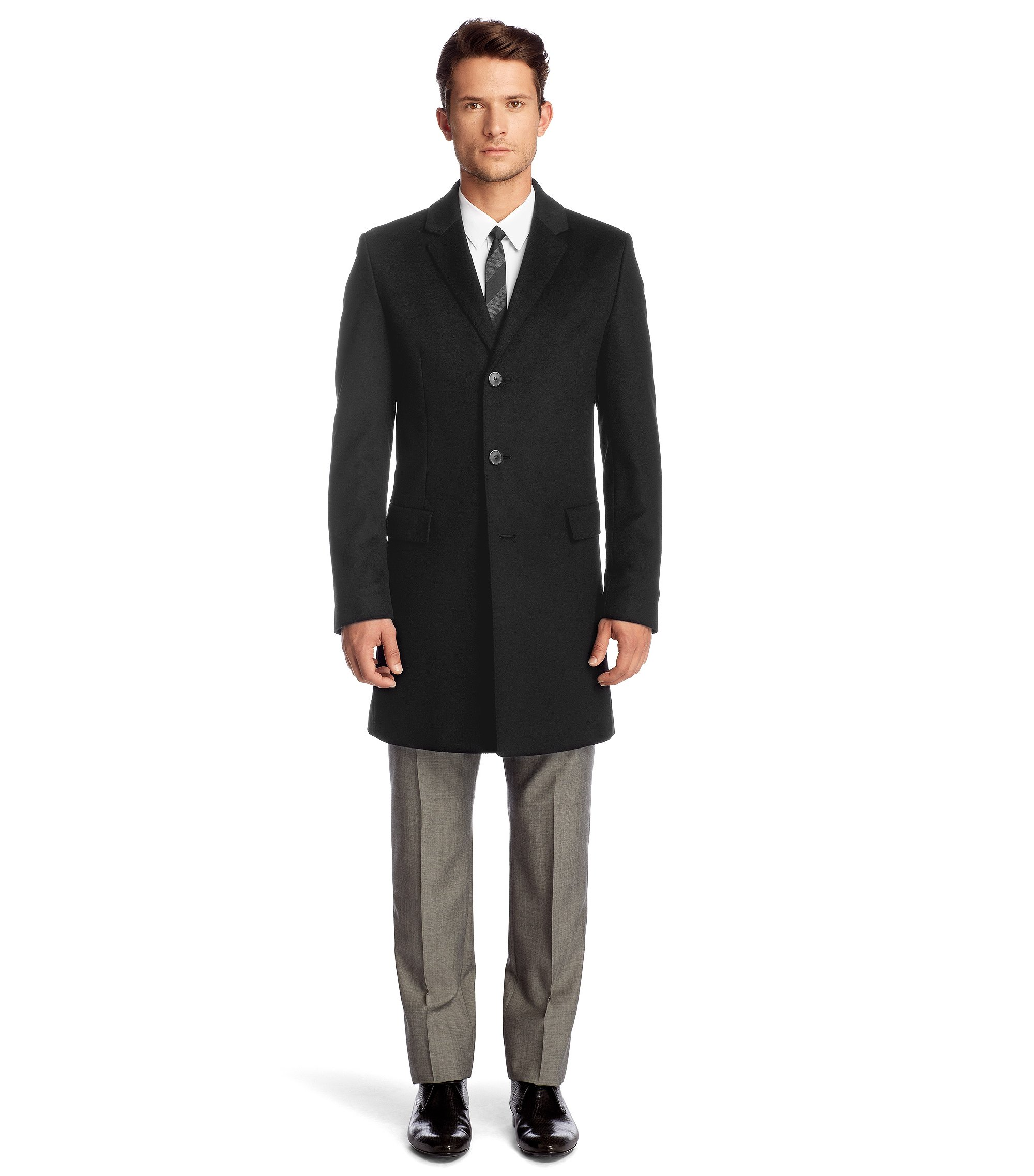 Wool blend jacket with cashmere 'Migor', Black