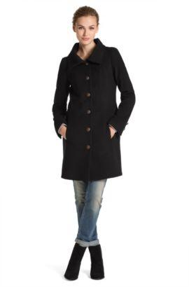 Manteau en laine mélangée, Okirana, Noir