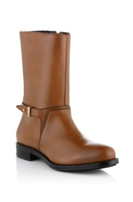 Leather ankle boot 'Giorgie', Brown