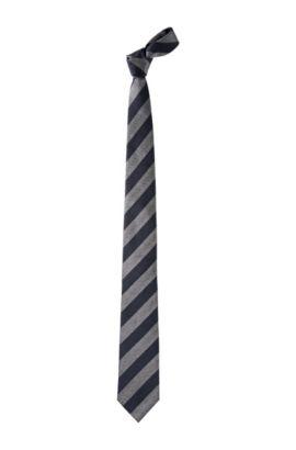 Cravate en soie, Tie 7,5 cm, Bleu foncé