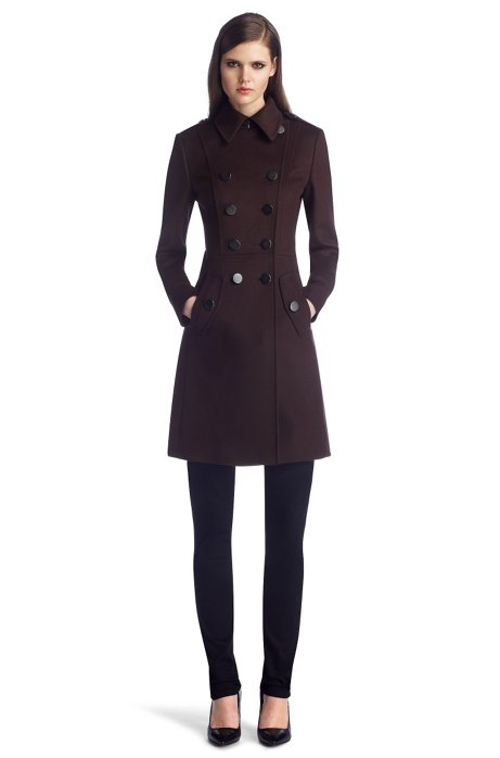New wool blend coat 'Mavine', Dark Purple
