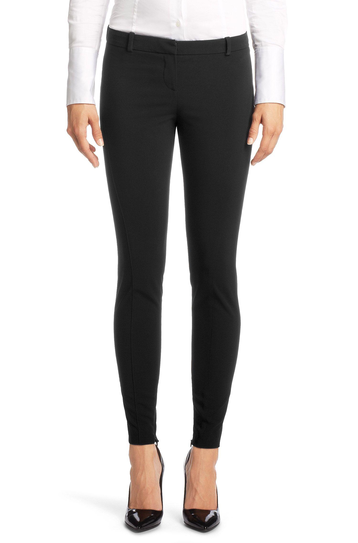 Slim fit broek ´Honesta` van een polyestermix