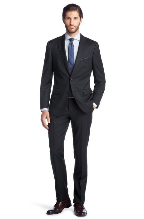 Regular Fit suit 'Howard1/Court2', Dark Blue