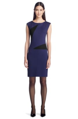 Jersey jurk ´Kimby`, Donkerpaars
