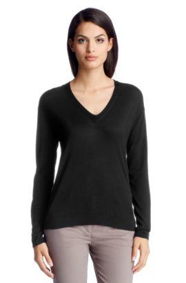 Pullover ´F4821` aus Schurwolle, Schwarz
