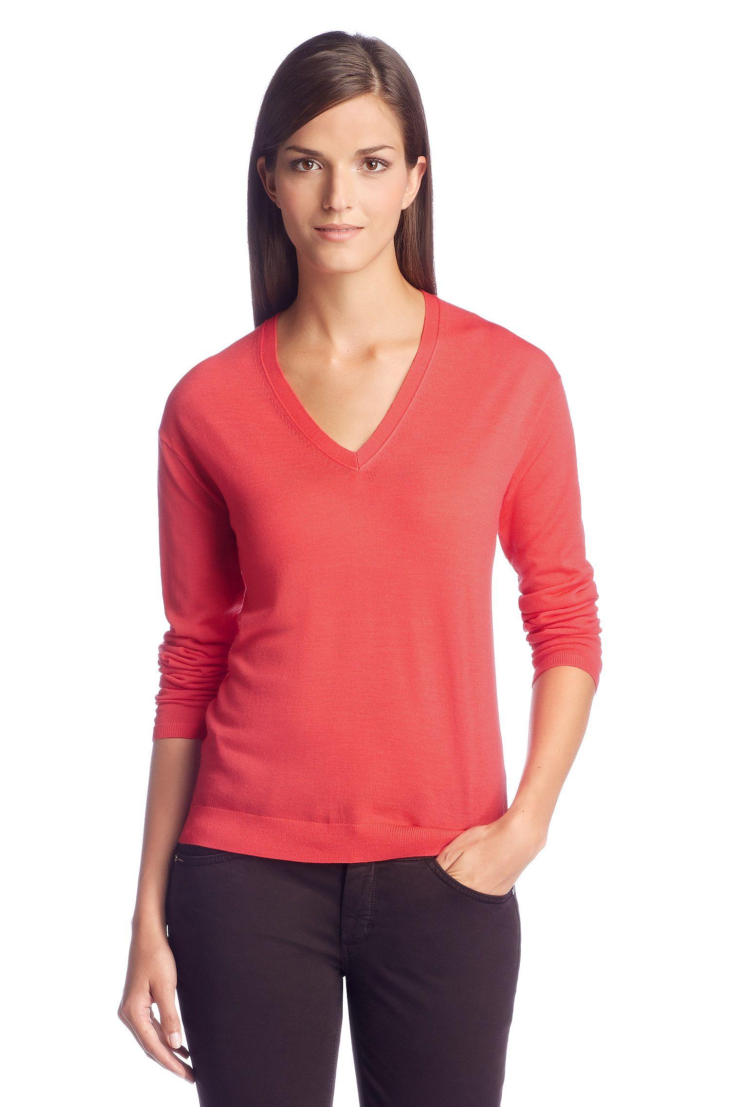 Pullover ´F4821` aus Schurwolle, Dunkelrosa