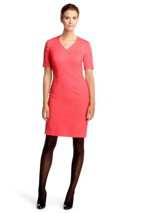 Blended new wool dress 'Darlinya', Dark pink