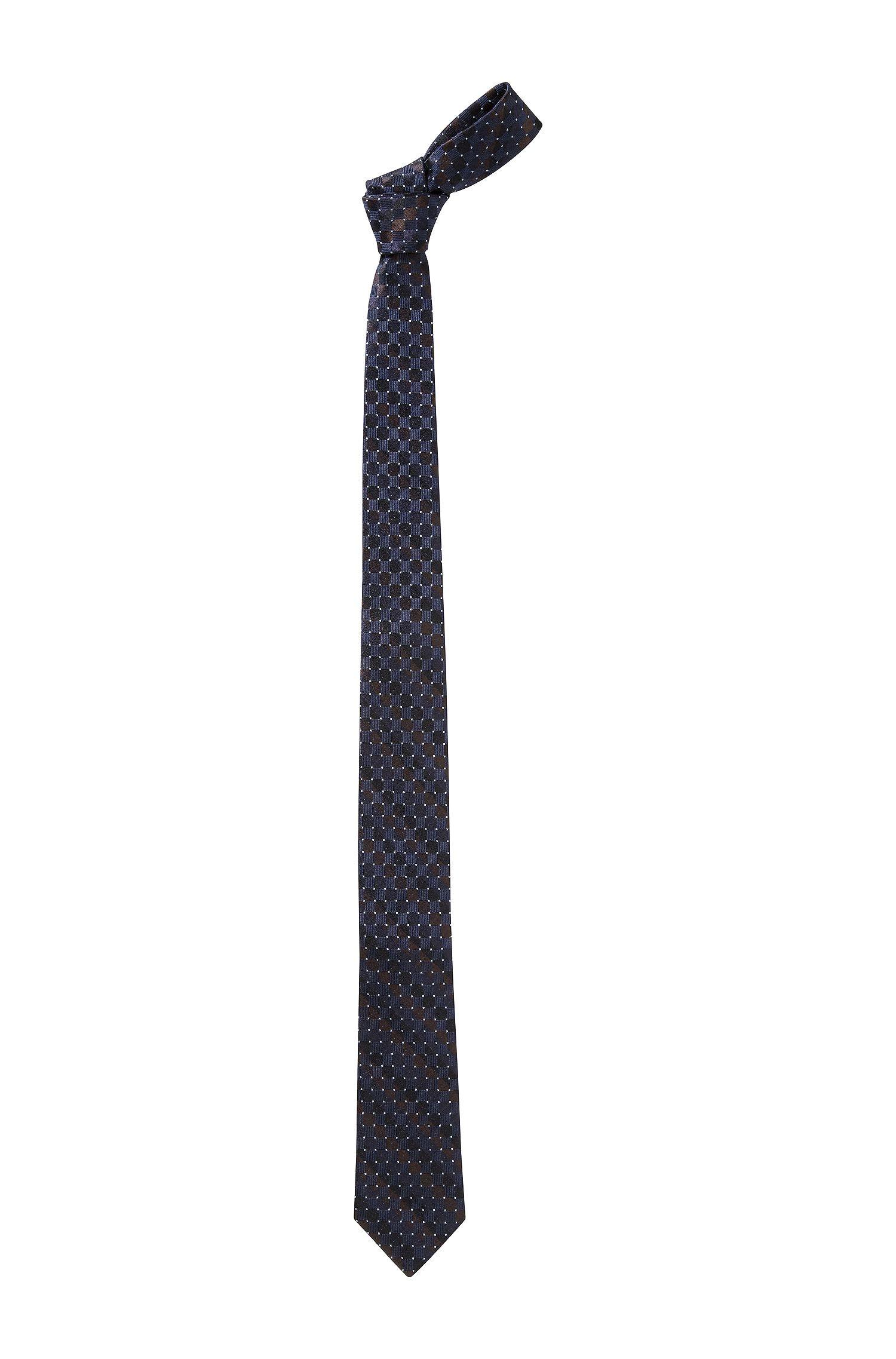 Krawatte ´Tie 6 cm` mit Allover-Dessin aus Seide